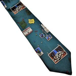 "Perry Ellis Necktie ""Bulletin Board"""